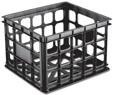 Images for Black Plastic Storage Crate - Set of 3 (Black) (10 1/2