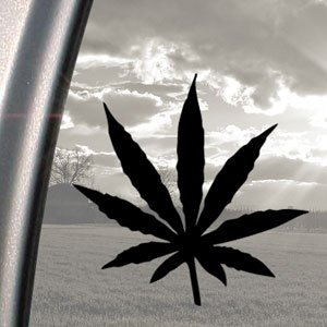 MARIJUANA Black Decal WEED  Dope Weed Backgrounds
