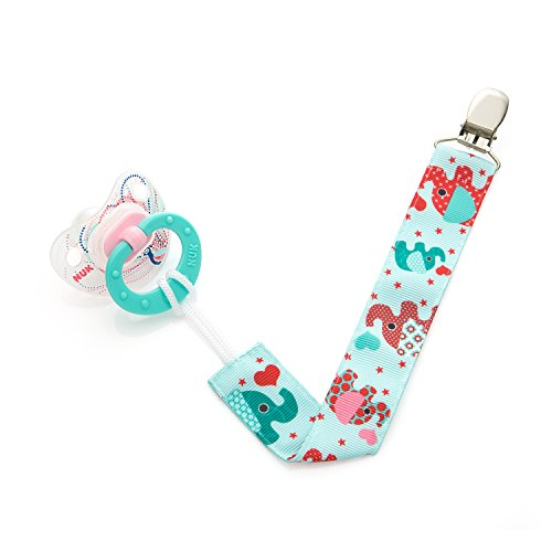 Unique Baby Toys For Girls : Pacifier clip pack unisex unique sided elephant