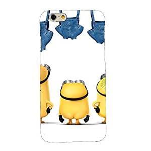 Clapcart Minions Printed Mobile Back Cover for Apple iPhone 6S / 6 -Multicolor