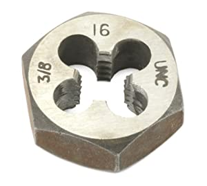 Forney 23159 Pipe Die Industrial Pro UNC Hex Re-Threading Carbon Steel, Right Hand, 3/8-Inch-by-16
