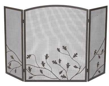 Review Of Panacea Three Panel Oak Leaf Firescreen, Colonial Brown