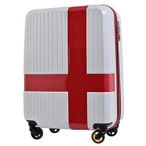 イノベーター キャリーケース スーツケース TSAロック 機内持ち込み可 ファスナータイプ 4輪 36L 2日 3日用 48.5cm ind920p ホワイト×レッド