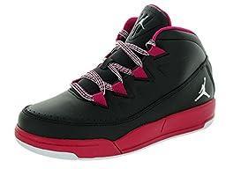 Nike Jordan Kids Jordan Deluxe Gp Black/White/Sport Fuchsia Basketball Shoe 2.5 Kids US