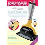 HOME TEK DELUXE MULTI STEAM MOP BONUS PACK - Compact Sweeper FREE! 4 Mop Pads FREE! Patio Brush FREE!by Home-Tek