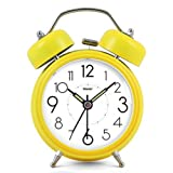 Modern Fashion Lovely Colorful Cute Metal Alarm Clock Yellow 801