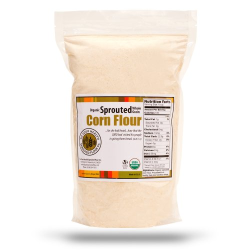 10Lb. Organic, Sprouted Yellow Corn Flour