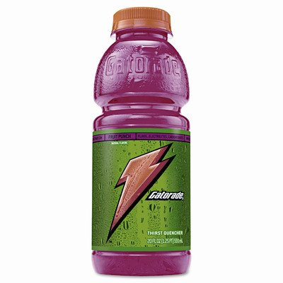 Sports Drink, Fruit Punch, 20 oz. Plastic Bottles, 24/Carton, Sold as 1 Carton