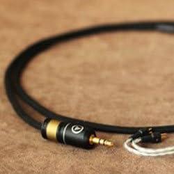【色:ホワイト白】 Null Audio Studio 社 『 Lune 』 with ViaBlueプラグ Ultimate Ears 用 アップグレード Silver ケーブル