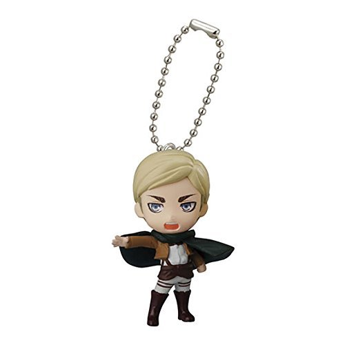 Bandai Attack On Titan Figure Swing Keychain Part 2~Erwin Smith - 1