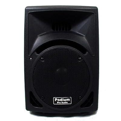 Podium Pro PP8101 PA DJ Karaoke Band Black Pro Audio Two Way ABS Plastic Speaker