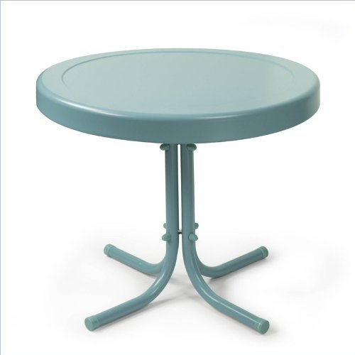 Griffith Metal Side Table Color: Caribbean Blue