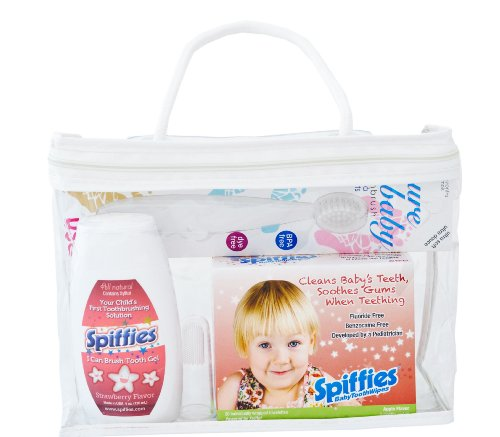 Spiffies Oh Baby Smiles Pack Toothwipes and I Can Brush, Apple and Strawberry, 12 Ounce