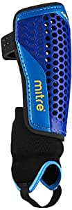 Mitre Aircell Carbon Shinguards - Blue/Cyan/Yellow - XS