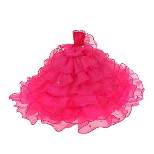 Muecas-Fashion-Vestido-de-Boda-de-la-Novia-Sin-Tirantes-para-Barbie