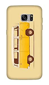 Flauntinstyle yellow van Hard Back Case Cover For Samsung Galaxy S7 edge plus