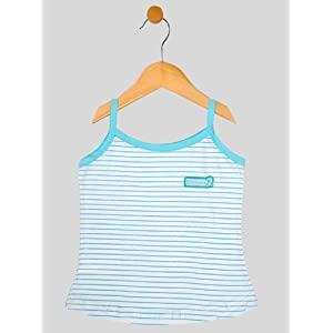 girls spaghetti vest ( 1-2 yrs ), blue