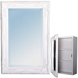 spiegelschrank badezimmer schrank wei barock badschrank. Black Bedroom Furniture Sets. Home Design Ideas