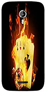 Snoogg Triple ace fire Designer Protective Back Case Cover For Micromax A117
