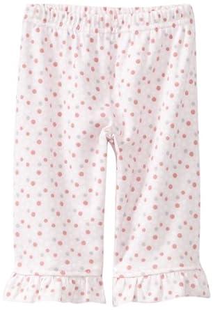 Hartstrings Baby-girls Newborn Printed Polka Dot Inerlock Legging, Pink Dot, 3-6 Months