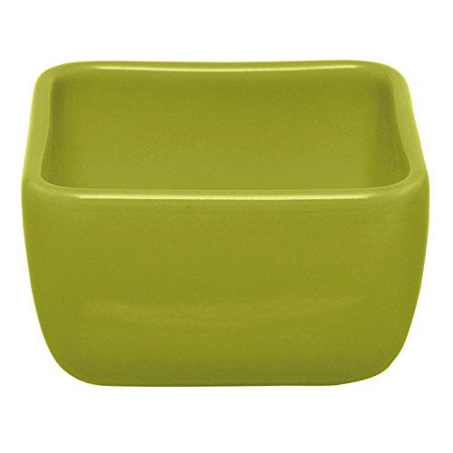 Excèlsa Ciotolina Snack Quadrata, cm 9, Ceramica, Verde