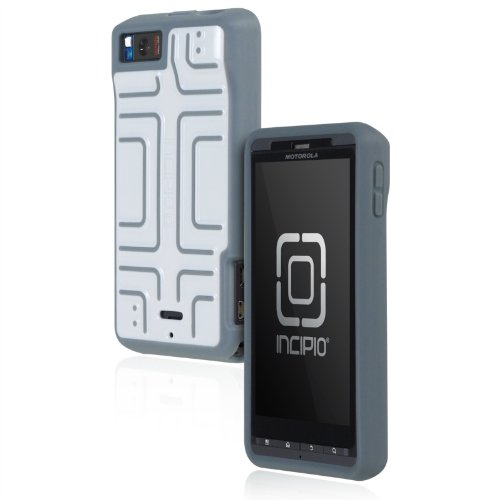 Incipio Motorola DROID X2 Step Semi-Rigid Soft Shell Case - 1 Pack - Retail Packaging - White/Gray
