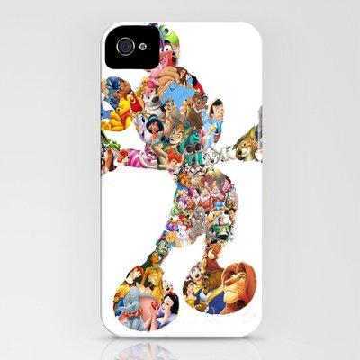 Society6/ソサエティシックス iphone4/4Sケース ミッキーマウス ディズニー Mickey Mouse Silhouette