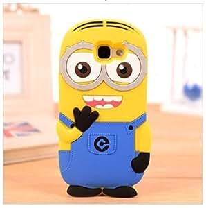 MVE Cute Cartoon Minion Soft Rubber Silicone Flip Bumper Best Back Case Cover For Samsung Galaxy A5 (2016) Double Eye