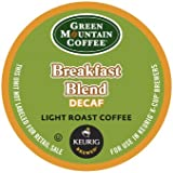 Green Mountain Coffee, Breakfast Blend Decaf, Light Roast K-Cup Portion Pack for Keurig Brewers, 24 count