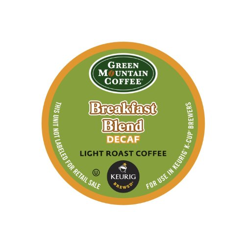 Green Mountain Coffee, Breakfast Blend Decaf, Light Roast K-Cup Portion Pack For Keurig Brewers, 24 Count front-557955