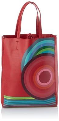 Desigual Bols Shopping Huge Troquel Bis, Sac porté épaule - Rouge (3000), Taille Unique