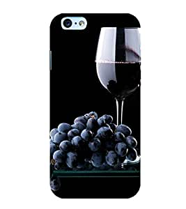 Grapes and Wine 3D Hard Polycarbonate Designer Back Case Cover for Apple iPhone 6S
