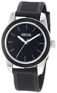 Kenneth Cole REACTION Women's RK6011 HOLIDAY-Box Set Round Black Enamel Bezel Watch