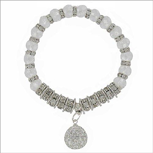 Rondelle W Crystal Ball Charm Bracelet #041477