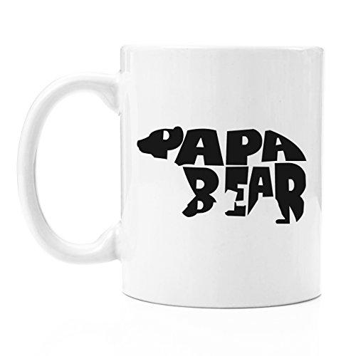 Papa Bear Coffee Mug Gift 12 Oz