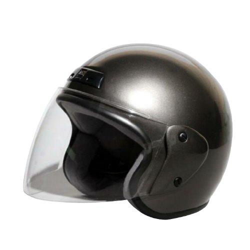 [ バイクパーツセンター ] ヘルメット ジェット ガンメタ KC-350 [ サイズ ] 57~60cm未満 [ 品番 ] 7203