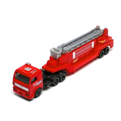 Tractor Drawn Aerial Rescue Ladder * On the Road Series * Maisto Highway Haulers 2010 Fresh Metal Die-Cast Tractor Trailer / Semi Truck Vehicle Collection