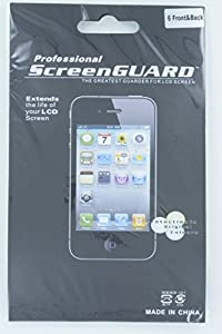 Delton DSPIP4FB6PK Premium Scratch Resistant Screen Protector for iPhone 4 - Retail Packaging - 6 Pack - iPhone 4 Clear