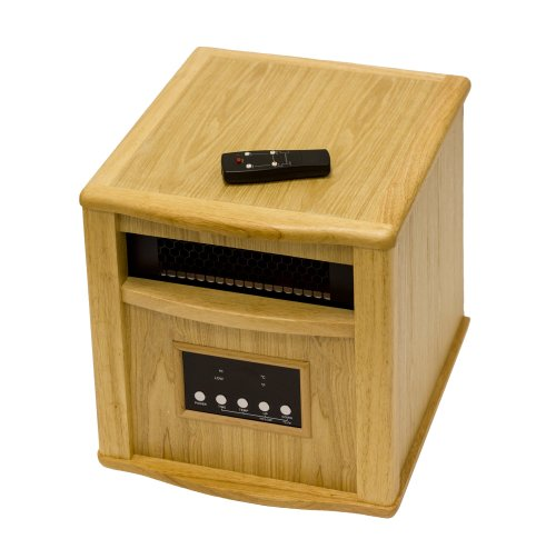 Az Patio Heaters Hli-Wi-0035Oak Indoor Space Heater With Remote, Oak