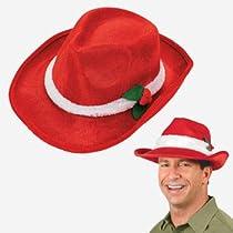 Red Velour SANTA CLAUS Fedora/HAT/PIMP/Gangsta/ELF/HOLIDAY PARTY