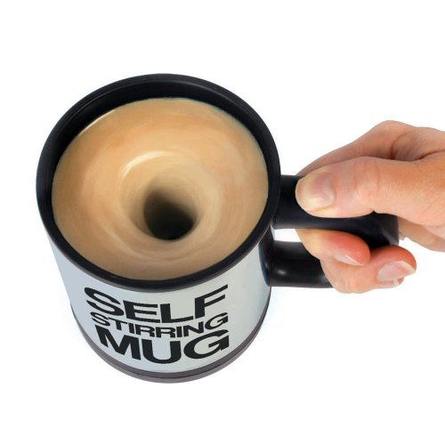 1 X LOCOMOLIFE Self Stirring Mug Office Coffee Tea Cup Mix Mixing Stir Gag Gift (Mix Stir compare prices)