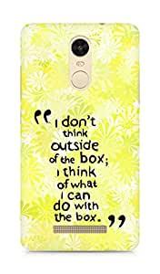 AMEZ i dont think out of the box Back Cover For Xiaomi Redmi Note 3