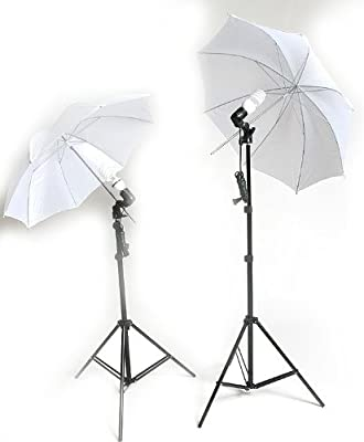 ePhoto 2 Video Photography Studio Continuous Lighting Kits Two FREE 45w 5500k Day Light Fluorescent Photo Light Bulbs by ePhoto INC DK2