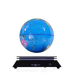 Aoske LED Lighlobes Luminous Globes Magnet Toys Levitation - Floating Globe Globe with LED Maglev Globe - Float Globes LED Blue