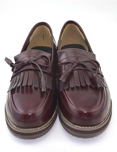 Donna mocassini & Comfort Slip-Ons PU Casual bassa scarpe a tacco,Black,US7.5 / EU38 / UK5.5 / CN38