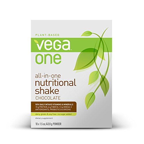Vega One All-In-One Nutritional Shake, Chocolate, 10 Count front-201178