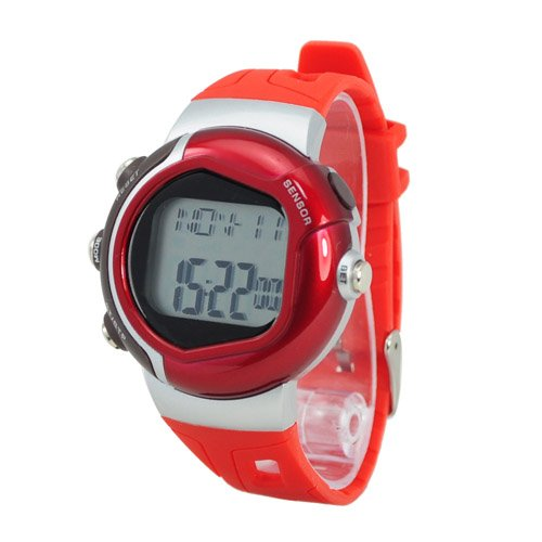 New Stylish Sporty Pulse Heart Rate Monitor Calories Counter Watch Fitness Watch-Red By Tjspecial