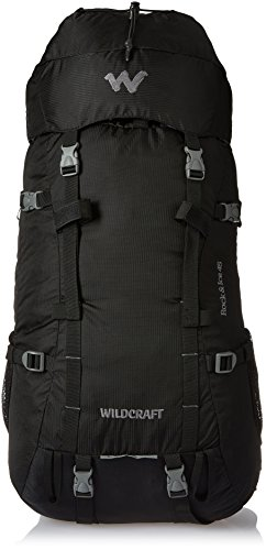 Wildcraft 35 ltrs Black Hiking Backpack (Rock & Ice Plus Black)