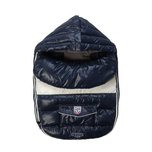 Imagen de 7 a.m. Enfant bebé Shield extensible bebé Bunting Adaptable para cochecitos de Bolsa, Midnight Blue, Large