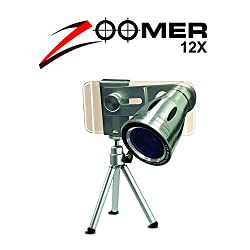 XTRA Zoomer 12X Optical Zoom Telescope Mobile Camera Lens Kit with Tripod and Adjustable Holder